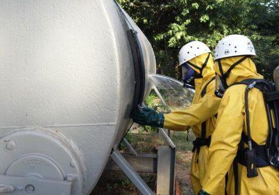 produtos químicos perigosos poros
